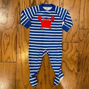 CARTER/'S BABY OUTFIT GIRL/'S FOOTED SLEEP AND PLAY CRABS NWT MULTICOLOR